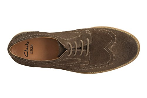Clarks Raspin Brogue - Zapatos de cordones de Piel para hombre Marrón marrón