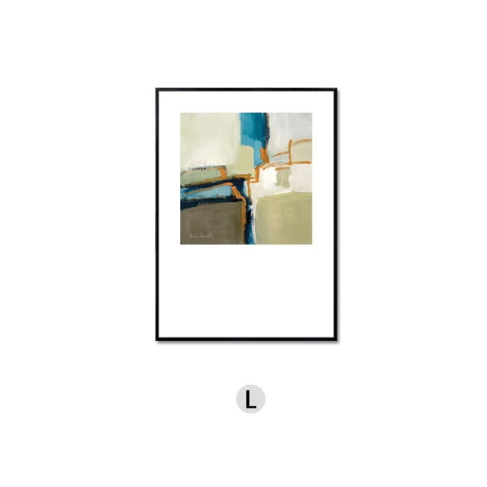 ventas calientes DEED Mural Moderno Abstracto de la Sala de Estar Estar Estar del Bloque del Color, Pintura Decorativa Triple de la Pared del Fondo del sofá, Pintura de Pared Modelo del Hotel de la casa,G,40  60  cómodamente