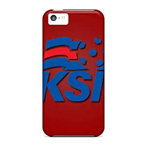 Premium WNF884Nmyn Case With Scratch-resistant/ Iceland Football Logo Case Cover For Iphone 5c