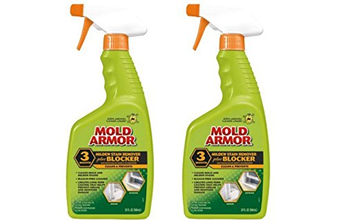 Mold Armor Mold and Mildew Stain Remover and Blocker (Pack of 2) Made in USA (Mold Blocker)
