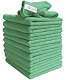 Exel GCC0030-G  Robert Scott and Sons Microfiber Cleaning Cloths,  40 x 40 cm  - Green