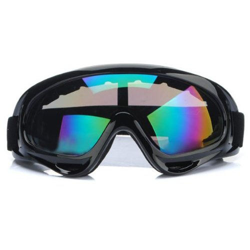 TOOGOO(R)Adult Motocross Motorcycle Dirt Bike ATV MX Off-Road Goggles Multicolour Lens with Black Frame Frame Off Road Goggles