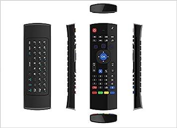 Maner 2,4 G inalámbrico mando a distancia Air Mouse Teclado inalámbrico IR Control de voz de aprendizaje para KODI Smart PC TV: Amazon.es: Electrónica