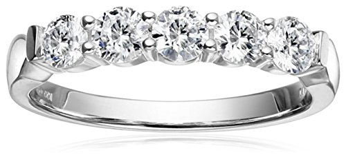 IGI-Certified-14k-Gold-Diamond-5-Stone-Anniversary-Ring-1cttw-H-I-Color-SI2-I1-Clarity