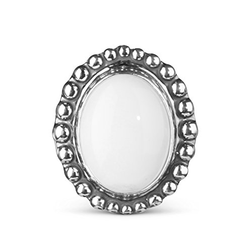 American West - Sterling Silver White Agate Interchangeable Magnetic Insert - Treasures Collection ()