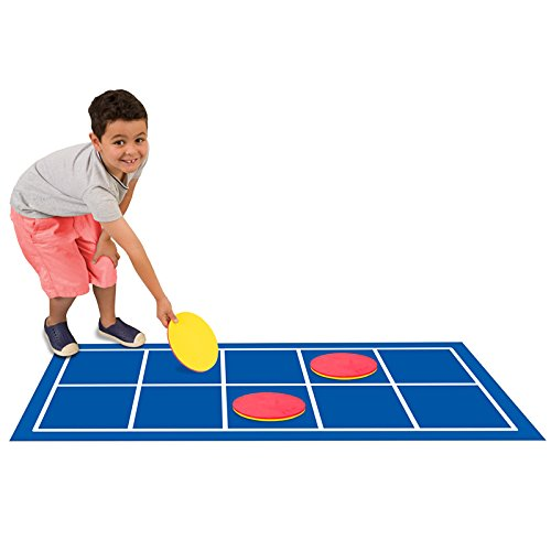 Didax Educational Resources Ten-Frame Floor Mat with Giant Counters