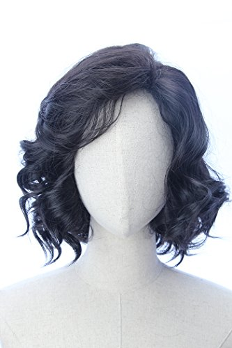Black Short Curly Party Costume Wigs Jon Snow Cool Cosplay Wig inspired by Game of Thrones