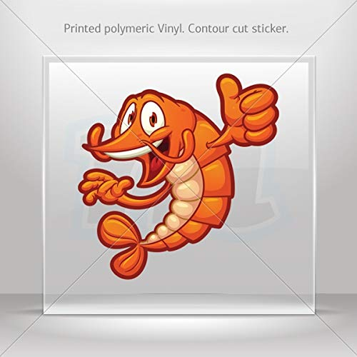 Fishes Various sizes Decals Decal Cartoon Shrimp Holding It