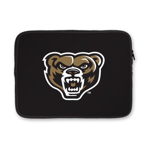 Oakland University 13 inch Neoprene Laptop Sleeve 'Grizzly Head'