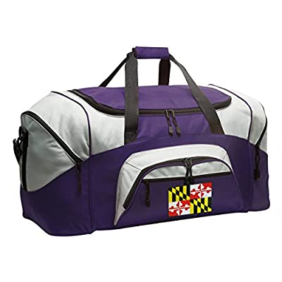 c739fc2d0f93 high-quality Maryland Flag Duffle Bag Maryland Gym Bags Purple ...