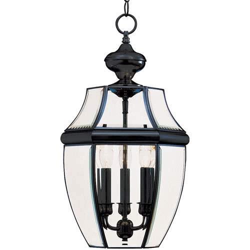 Maxim Lighting South Park Black 3-Light Outdoor Pendant Light 6095CLBK