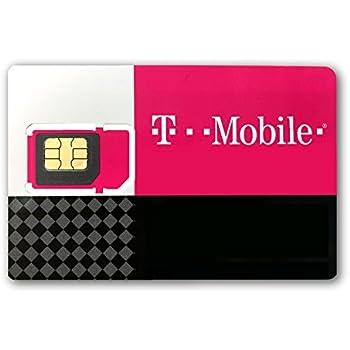 T-Mobile Prepaid Complete SIM Starter Kit - Triple Cut SIM Card (3 Pack)