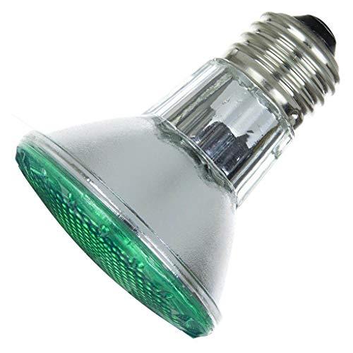 (Sunlite 50PAR20/HAL/FL/G 50-Watt Halogen PAR20 Reflector Bulb, Green)