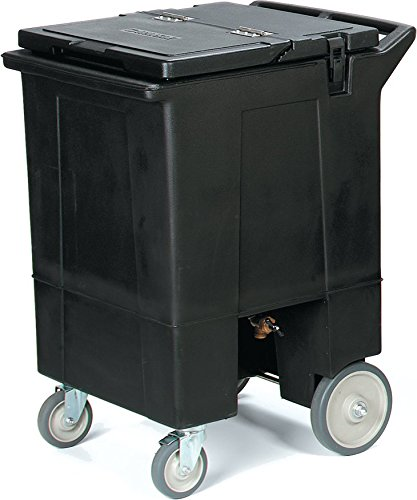 Carlisle IC2250T03 Cateraide Tall Mobile Ice Bin Caddy, Portable Beverage Merchandiser, 125 Pound Capacity, Black by Carlisle