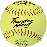 Dudley ASA Thunder Heat 11'' (.44) Slow Pitch Softball - Leather Cover - Dozen