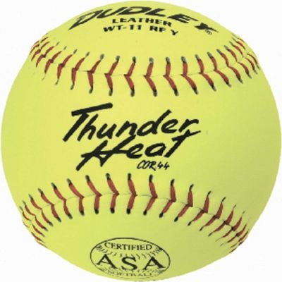 Dudley ASA Thunder Heat 11'' (.44) Slow Pitch Softball - Leather Cover - Dozen by Dudley