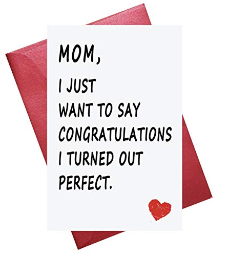 Funny Mother's Day Card, Mothers Day Card, Funny Birthday Card for Mom ()