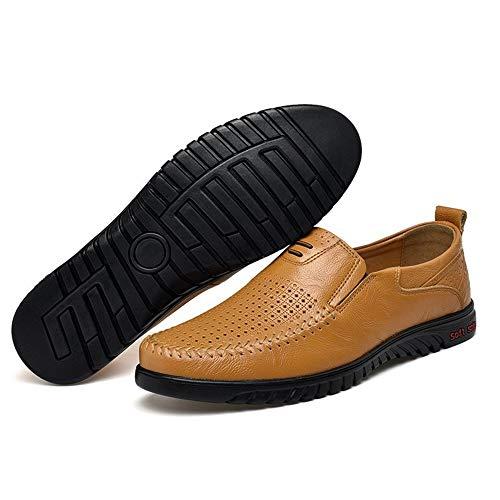 Hogazanes Hombre Light Zapatos Plano Marr¨n JOJONUNU BEdq7B