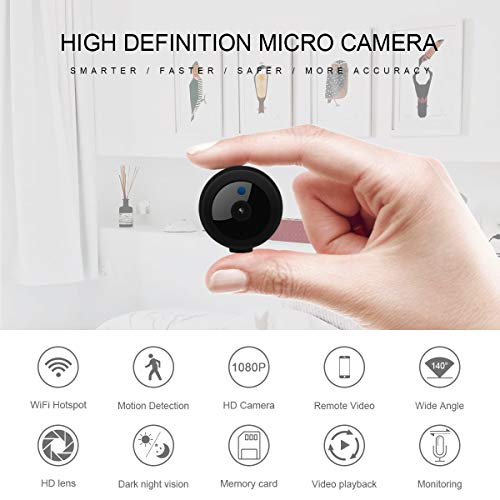 Hidden Camera, Home Security Camera WiFi, Super Night Vision 1080P Wireless Surveillance Camera, 150° Wide-Angle Lens, Nanny Cam Activity Detection Alert, Remote Monitor Phone App