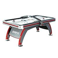 Mesa de juego de Air Hockey de ESPN: juego de juegos de arcade para interiores de 84 pulgadas con sistema de puntaje electrónico, efectos de sonido, portavasos, discos y paletas