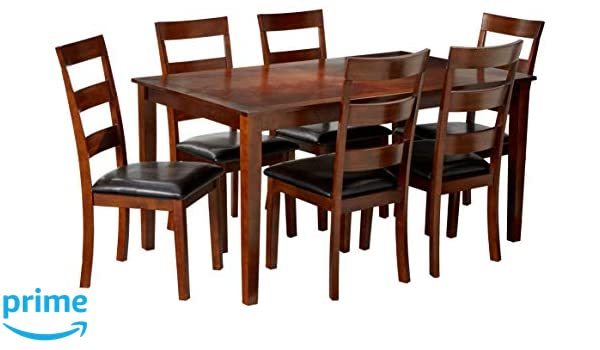 Amazon Com Nhi Express 7 Piece Wood Dining Set Table Chair Sets