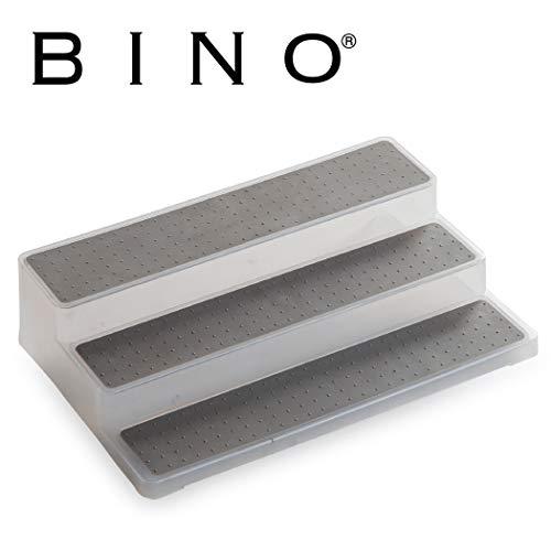 BINO 3-Tiered Spice Rack Organizer – Frosted – Pantry Organization and Storage for Kitchen, Refrigerator, Freezer Spice Organizer