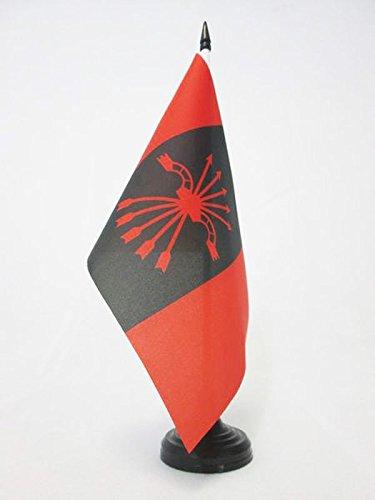 BANDIERA DA TAVOLO FALANGE ESPAÑOLA DE LAS J.O.N.S 21x14cm - PICCOLA BANDIERINA MOVIMENTO NACIONAL 14 x 21 cm - AZ FLAG