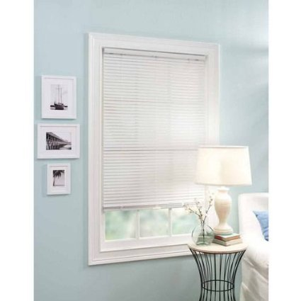 "Better Homes and Garden 1"" Vinyl Cordless Mini Blind, White, 23"" x 64"" from Better Homes & Gardens"