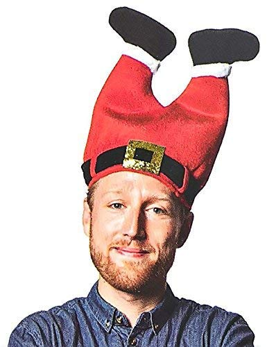 DomeStar Christmas Hat, Funny Hat Novelty Santa Hat Crazy Hats Santa Pants Hat -
