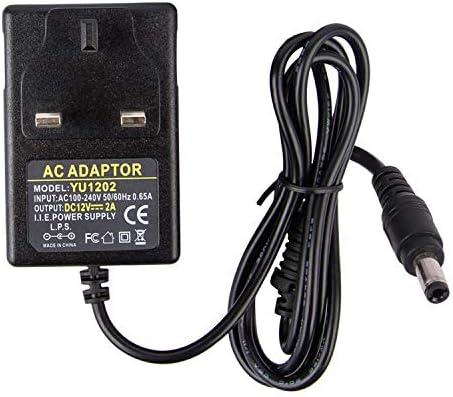 24 W UK Plug Top Power Supply 2.5 mm DC Connecteur 12Vdc 2 A