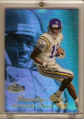 1998 Flair Showcase Randy Moss Rookie Card - Flair 1998 Showcase