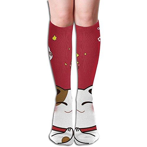 編集する日の出これまでラッキーキャット 3D印刷デザイン 女性の男性 秋と春 フリースタイルのデザインソックス ファッションかわいい 弾性 薄型 靴下 高校生 ティーンエージャー フォーシーズンズ