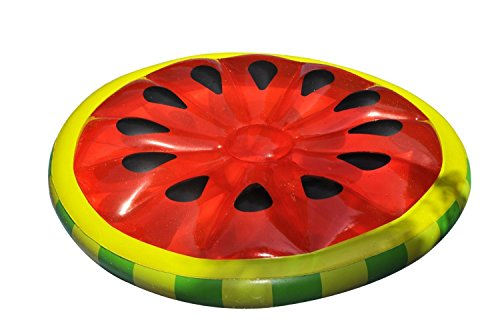 Best Horse 60' Inflatable Watermelon Slice Float Big Pool Lounger, Raft, Travel, Summer Vacation for Adults & Kids