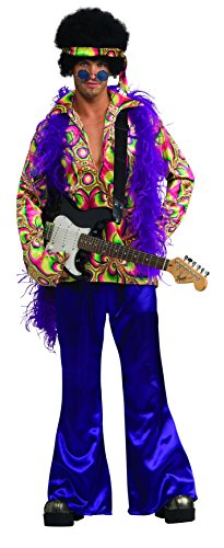Rubie's Men's Purple Daze Hippie Costume, Multi, Standard (Jimi Hendrix Scarf)