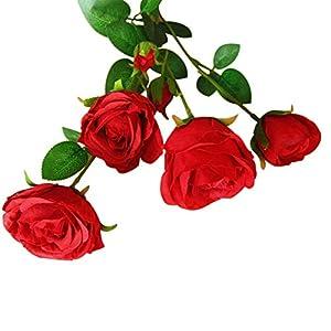 Norbi 1 pcs Artificial Flower Fake Flowers Multi-Headed Rose Floral Decor Bouquet Wedding Arrangement 111