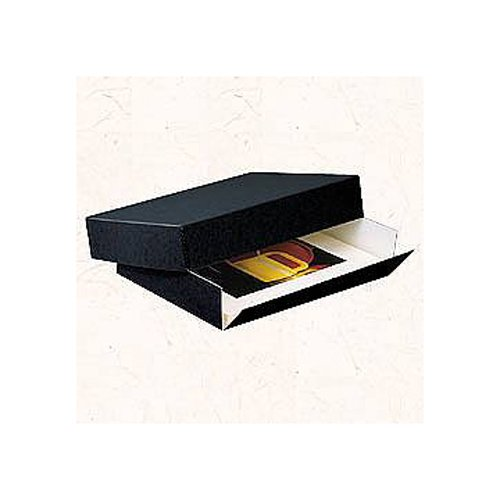 Lineco Museum Archival Drop-Front Storage Box, Acid-Free with Metal Edges, 14.5 X 18.5 X 3 inches, Black (Archival Storage Box)