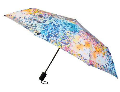 Nicole Miller 42 Inch Auto Open Supermini Umbrella, In The Sun Print, One Size