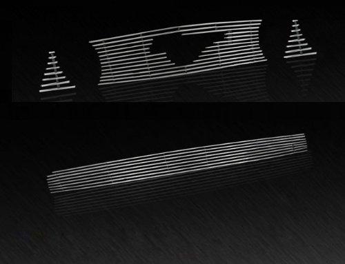 ustang GT V8 4PC Combo Horizontal Billet Polished Aluminum Grille Grill Insert (Horizontal Billet Grille)