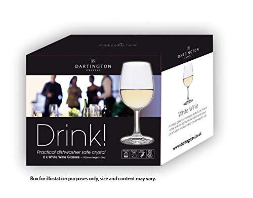 Lot de 6 Verres /à/ vin Blanc Dartington Cristal Boisson