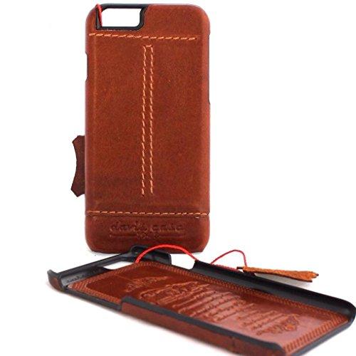 Original Vintage Echt Leder Handmade Schutzhülle für Apple iPhone 6S Slim Wallet 6S dünn Retro IL