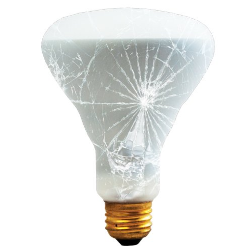 (Bulbrite 65BR30/TF 65-Watt Incandescent R20 Shatter Resistant Reflector, Medium Base,)