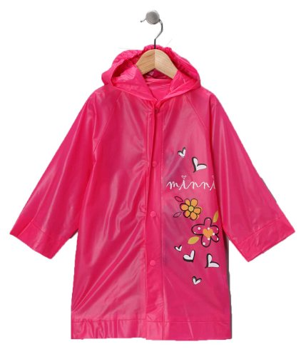 Disney Minnie Mouse Girl's Pink Rain Slicker Size Large 6/7 (Pink Girls Coat)