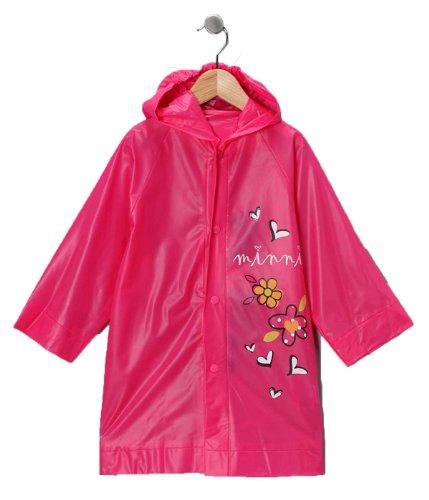 Girls Rain Slicker (Disney Minnie Mouse Girl's Pink Rain Slicker Size Large 6/7)