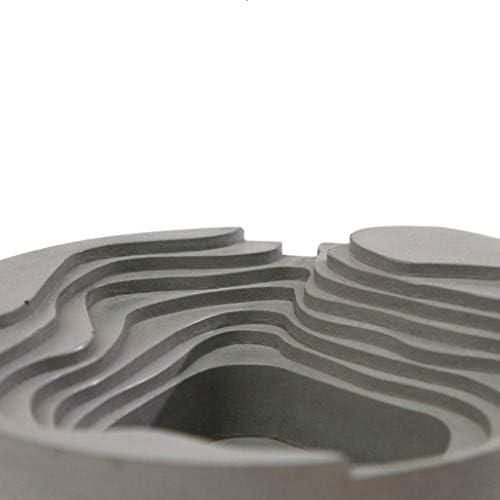 SRX 灰皿の装飾家庭用テラスコンクリート多機能のすす(色:グレー、サイズ:12 * 4CM)