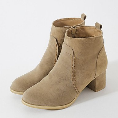 RTRY Women's Shoes Nubuck leather Fall Winter Comfort Novelty Bootie Boots Chunky Heel Pointed Toe Booties/Ankle Boots Zipper For Office & US6 / EU36 / UK4 / CN36 G9GbjUFgY