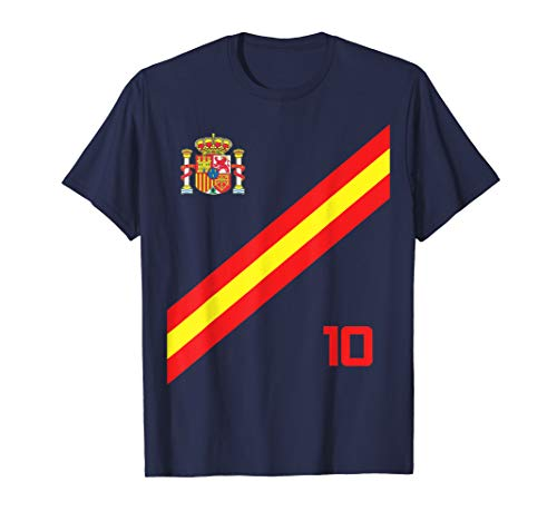 Spain Soccer Jersey Style Espana Barcelona Madrid T-Shirt (Mens Real Madrid Soccer Jersey)