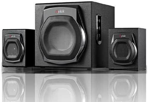 Sykik Sound i Special Edition Wireless Bluetooth Hi-fi Audio Speakers with Wired Rotary Remote, Powerful Bass System w/ 3.5mm Aux Port Home Audio for Smartphones , Tablets ,Computers,laptops,tv &More