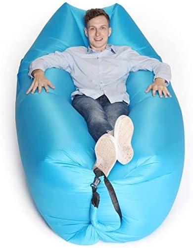 apto para viajes sof/á de aire piscina y playa. Tumbona inflable impermeable para sof/á sof/á perezoso hamaca inflable con reposacabezas camping Hongyans anfibio