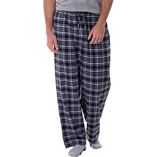 (Fruit of the Loom Men's Yarn-dye Woven Flannel Pajama Pant (X-Large, Black/Grey Plaid))