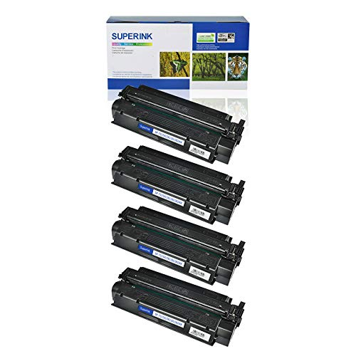 (SuperInk 4 Pack High Yield Compatible Toner Cartridge Replacement for HP 13X Q2613X Black use in Laserjet 1300 1300n 1300xi Printer (4000 Pages Yield))